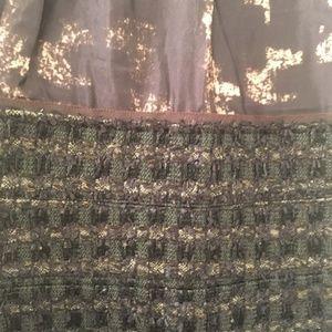 Lida Baday Dresses - Lida Baday Brown Beige Black Dress Wool Blend Sz 8